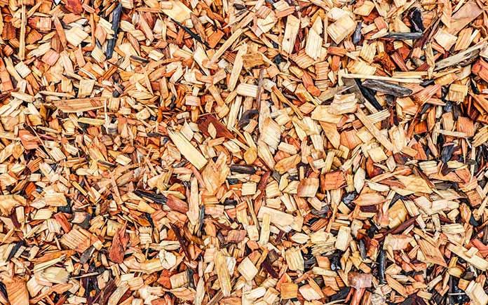 Mantillo de virutas de madera